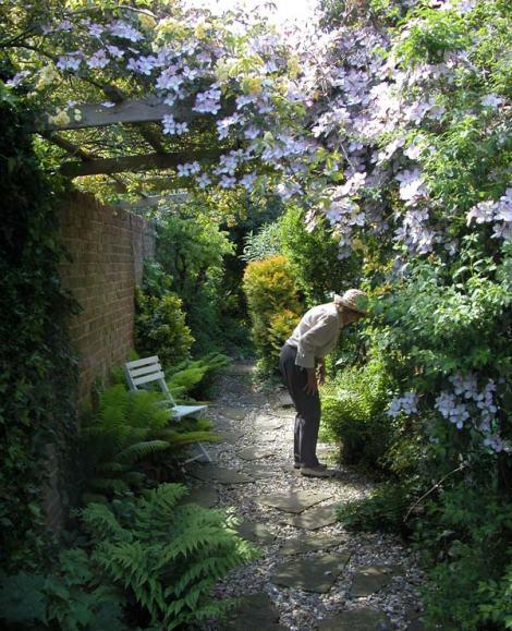 Mum in her garden